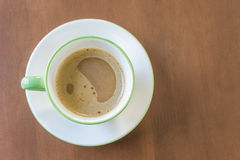 Coffee cup top view stock photography
