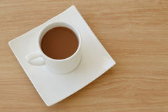Coffee cup top view Stock Photos