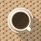Coffee Cup Top View Flat Icon Stock Photography