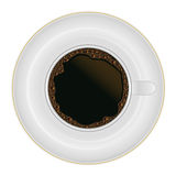 Coffee cup top view Royalty Free Stock Images