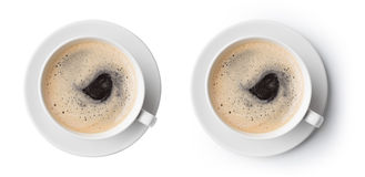 Coffee cup top view royalty free stock photo