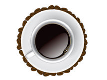 Coffee cup, top view Royalty Free Stock Images