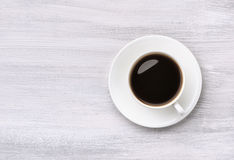 Coffee cup top view Stock Images