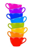 Coffee cup tower Royalty Free Stock Photos