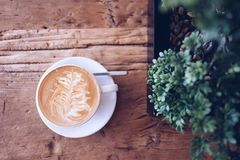 Coffee Cup and Tree Royalty Free Stock Photos