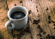 Coffee on wood royalty free stock photo