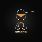Coffee cup turkish recipe background Stock Photography