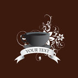 Coffee Cup. A Cup of coffee useful for your logo, mascot, graphic design, or advertising your product Stock Images