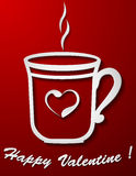 Coffee cup Valentine card Stock Photo