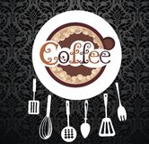 Coffee cup vector background Stock Photo