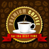 Coffee cup vector, Creative design cafe idea Royalty Free Stock Photos