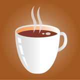Coffee cup vector. Coffee cup hot heat icon vector Royalty Free Stock Photos