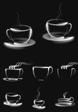 Coffee cup vector  icon background  abstract illustration object Royalty Free Stock Photography