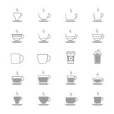 Coffee Cup Vector Icons Line Set Of Vector Design Illustration Royalty Free Stock Photo