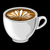Coffee Cup. A vector illustration of a coffee cup with foam and steam Royalty Free Stock Photos