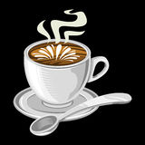 Coffee Cup. A vector illustration of a coffee cup with foam and steam Stock Photos