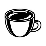 Coffee Cup. A vector illustration of a coffee cup with foam and steam Royalty Free Stock Photography