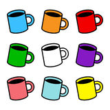 Coffee Cup. A vector illustration of a coffee cup with foam and steam Stock Images