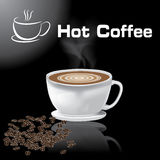 Coffee Cup vector illustration hot Coffee black background. Coffee Cup  vector illustration hot Coffee black background design abstract design Royalty Free Stock Photo