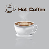 Coffee Cup vector illustration hot Coffee gray background. Design abstract design Stock Photo