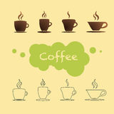 Coffee cup vector. Illustration of mugs Stock Photos