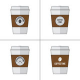 Coffee cup vector illustration set. Isolated background available in editable file Vector Illustration
