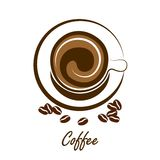 Coffee cup vector Royalty Free Stock Image