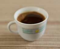 Coffee cup. View of coffee cup on a table Stock Images