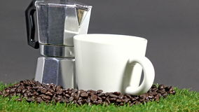 Coffee cup, vintage coffee stock video footage