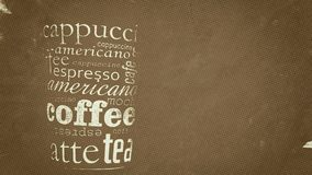 Coffee cup poster Stock Photography
