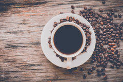 Coffee cup in vintage style Stock Image
