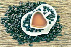 Coffee cup in vintage style Royalty Free Stock Photo