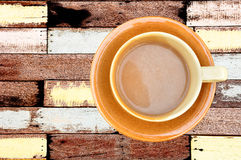 Coffee cup on vintage wood Stock Image