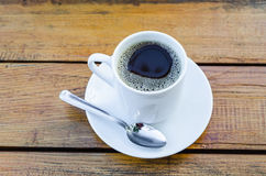 Coffee cup and water glass Royalty Free Stock Photography