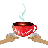 Coffee cup - Welcome Royalty Free Stock Photo