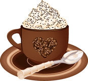 Coffee cup with whipped cream Royalty Free Stock Image