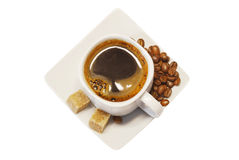 Coffee cup on white background Royalty Free Stock Photos