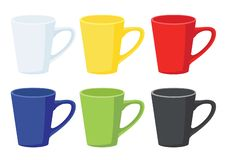 Coffee cup Multi color on white background royalty free illustration