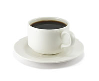 Coffee cup on white background. Close up of coffee cup on white background Stock Image