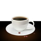 Coffee cup on a white background Stock Photos