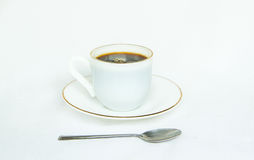 Coffee cup on white background Stock Image