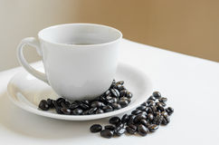 Coffee. Cup on white background Royalty Free Stock Photo