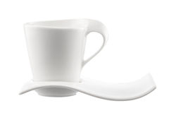 Coffee cup on a white background Royalty Free Stock Photos