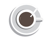 Coffee cup. On white background Stock Image