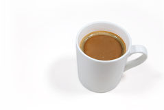 Coffee cup on a white background with clipping path Stock Images