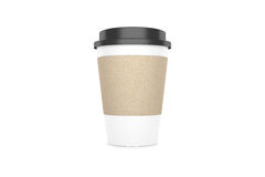 Coffee cup  on white background. 3D illustration Stock Photo