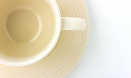 Coffee cup on white background. Royalty Free Stock Image