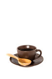 Coffee And Cup On White Backgrounds Stock Photography