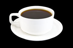 Coffee cup in white on a black background Royalty Free Stock Photos