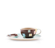 Coffee-cup with white copy space Stock Images